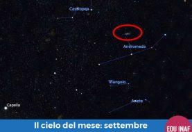 Il cielo del mese: settembre 2018 e la galassia di Andromeda