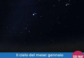 Il cielo del mese: gennaio 2019, la Luna e Orione