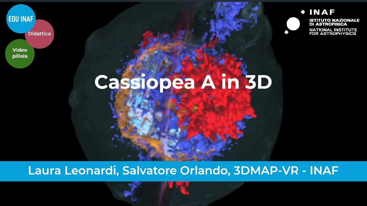 Cassiopea A in realtà virtuale