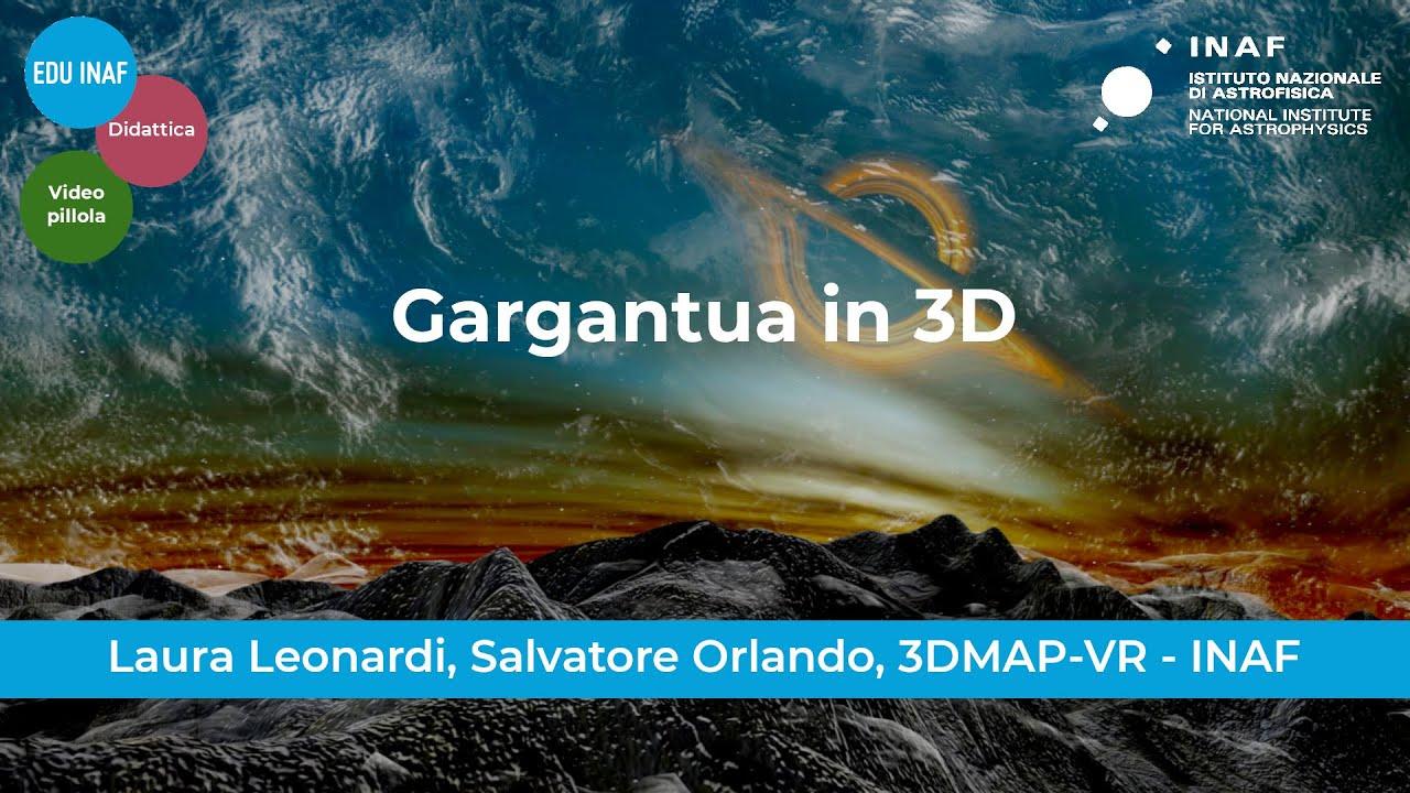 Il buco nero Gargantua in Realtà Virtuale