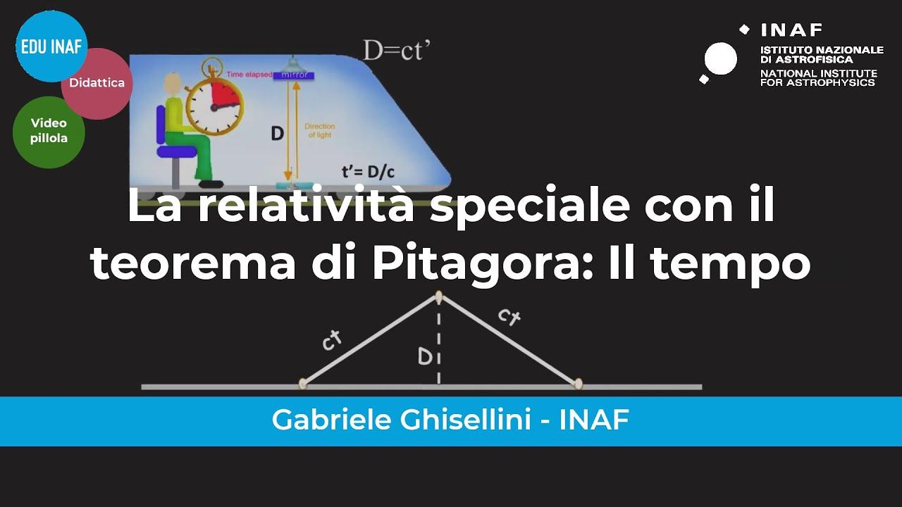 La relatività speciale con il teorema di Pitagora – I parte: il tempo