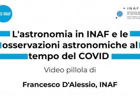 Osservazioni astronomiche al tempo del Covid