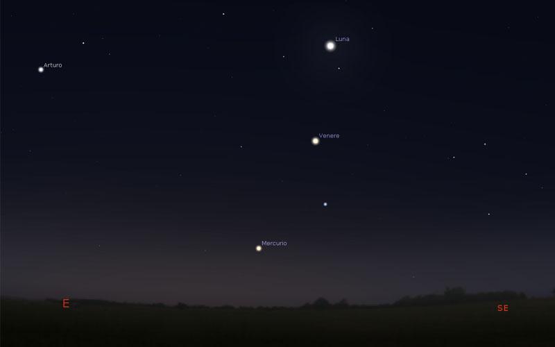 12-novembre-2020-Congiunzione-Luna-Venere-Mercurio