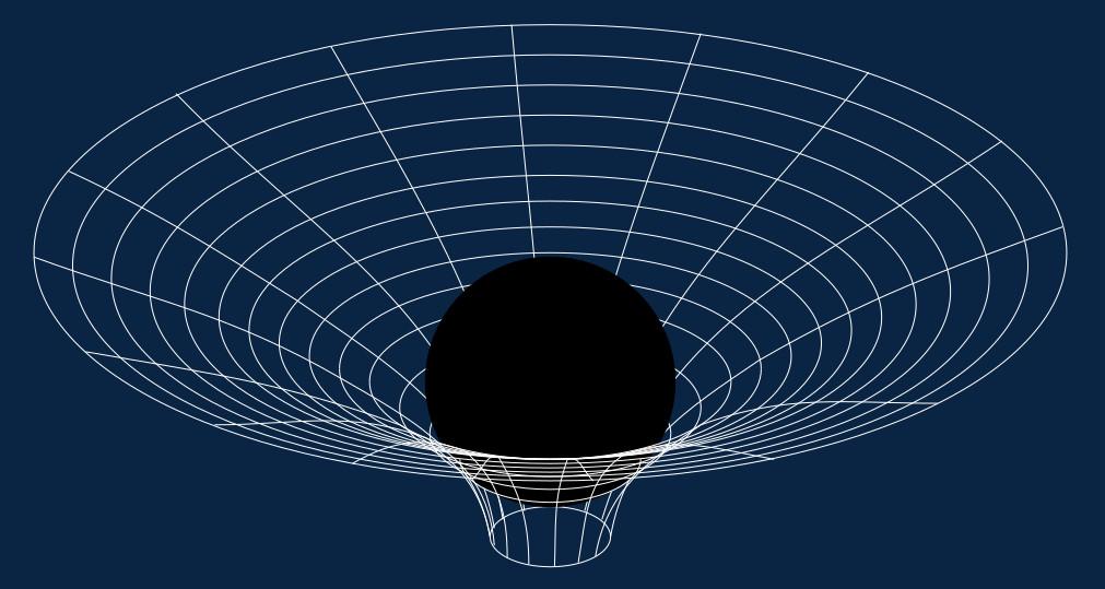 Deformazione spaziotemporale di un buco nero