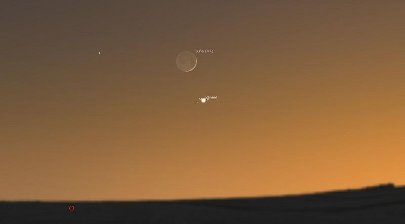 Congiunzione-Luna-Venere-Marte-12-luglio-2021
